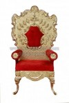 Kursi Pengantin Golden Carved Wedding Chair