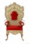 Kursi Pengantin Golden Carved Wedding Chair