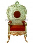 Modern Wedding Chair Gold Red KKW 133