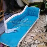 Sofa Mewah Biru Panjang
