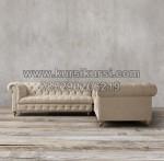 Tamu Sudut Kursi Sofa Full Jok Kancing KKW 711