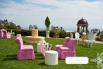 Wedding Furniture Kursi Full Jok Warna Pink