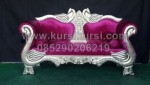 Wedding Sofa Angsa Silver Maroon KKW 397