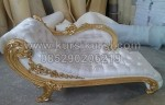 White Wedding Sofa Wood Gold Furnishing KKW 529