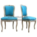 Kursi Makan Blue Upholstered French Chairs KKW 811