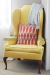 Kursi Sofa Lemon Yellow Wingback Chair KKW 879