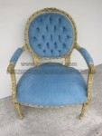 Kursi Sofa Ukiran Motif Blue Chairs KKW 905