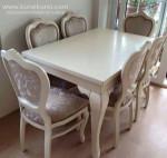 Modern Klasik Kursi Makan Duco Putih Gading KKW 979