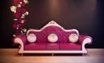 Pinky Bangku Sofa Leater Duco Putih KKW 763