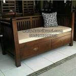 Bangku Sofa Minimalis Jati Jepara KKG 002