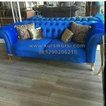 Kursi Sofa Model Vintage Blue KKG 049