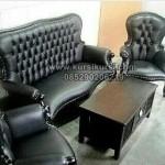 Kursi Tamu Sofa Elegant Black KKG 068
