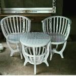 Kursi Teras Mangkok Duco Putih KKG 072