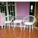 Kursi Teras Telur Duco Putih KKG 076