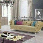 Modern Kursi Sofa Full Jok Yellow Leather KKG 086