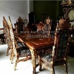 Set Kursi Makan Raja Ukiran Jepara KKG 095